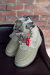 Жіночі кросівки Nike Lunar Force 1 Duckboot (кремові)