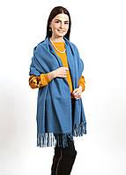 Теплый шарф палантин 185*73см, акрил/кашемир «Mulberry» бирюзовый