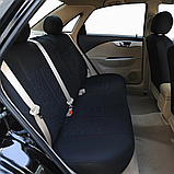 Універсальний Авто чохол Чорного кольору матеріал поліестер Чохли на сидіння авто бежеві, фото 6