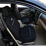 Універсальний Авто чохол Чорного кольору матеріал поліестер Чохли на сидіння авто бежеві, фото 5