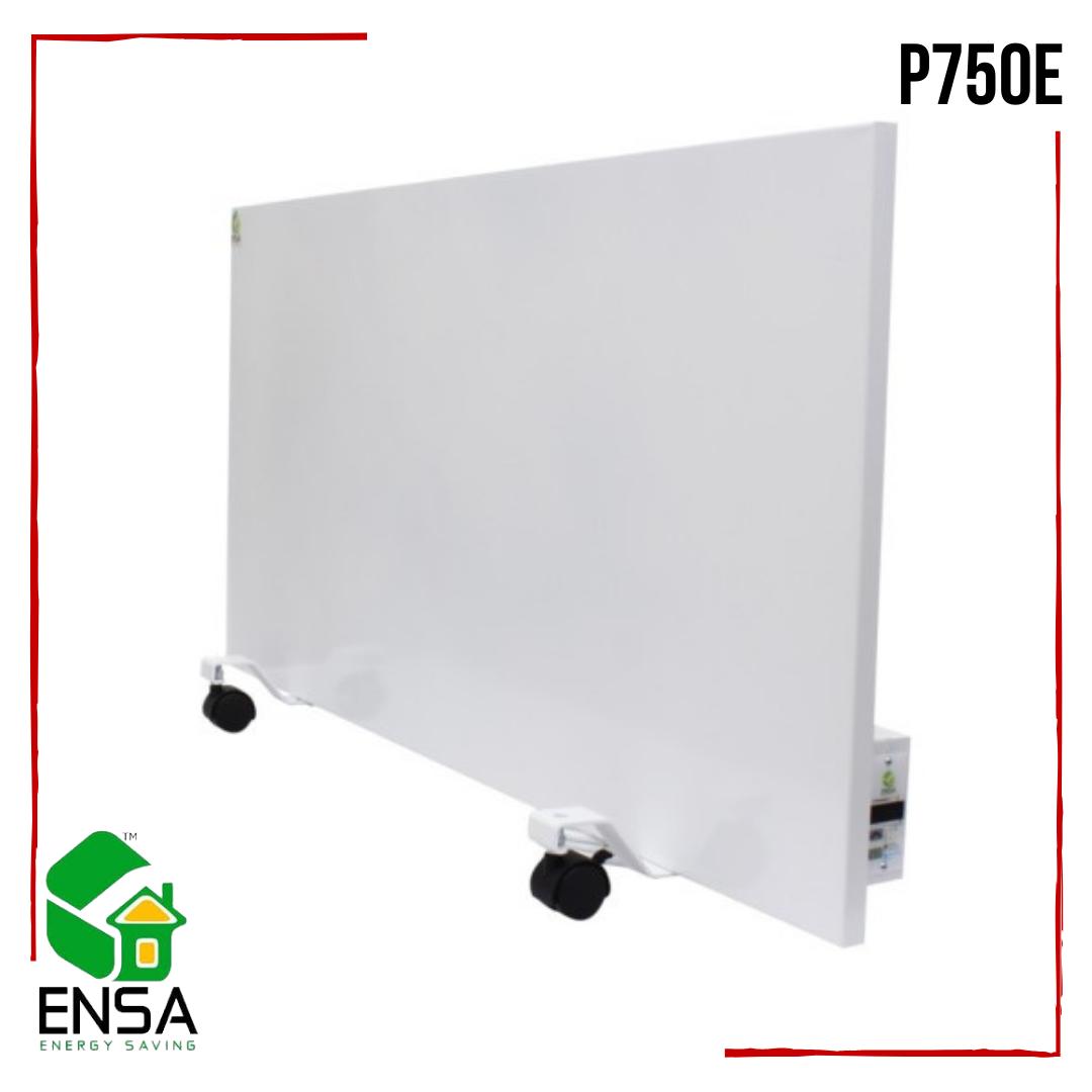 Панельный обогреватель ENSA P750Е с программатором, конвектор электрический бытовой 1000х500х15мм, 750 Вт
