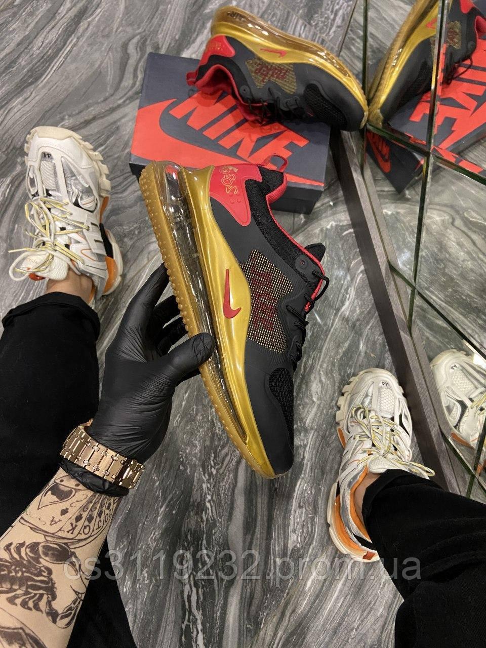 Мужские кроссовки Nike Air Max 720 2020 Black Gold (черный/золото)