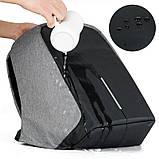 """Рюкзак Antivor 2.0 15,6"""" c защитой от карманников и с USB для зарядки Grey УЦЕНКА ( 113209 ), фото 6"""