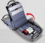 """Рюкзак Antivor 2.0 15,6"""" c защитой от карманников и с USB для зарядки Grey УЦЕНКА ( 113209 ), фото 8"""