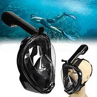 Инновационная маска S\M для снорклинга подводного плавания Easybreath