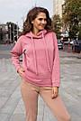 """Худі жіноче """"AZ-307"""" рожевий, фото 2"""