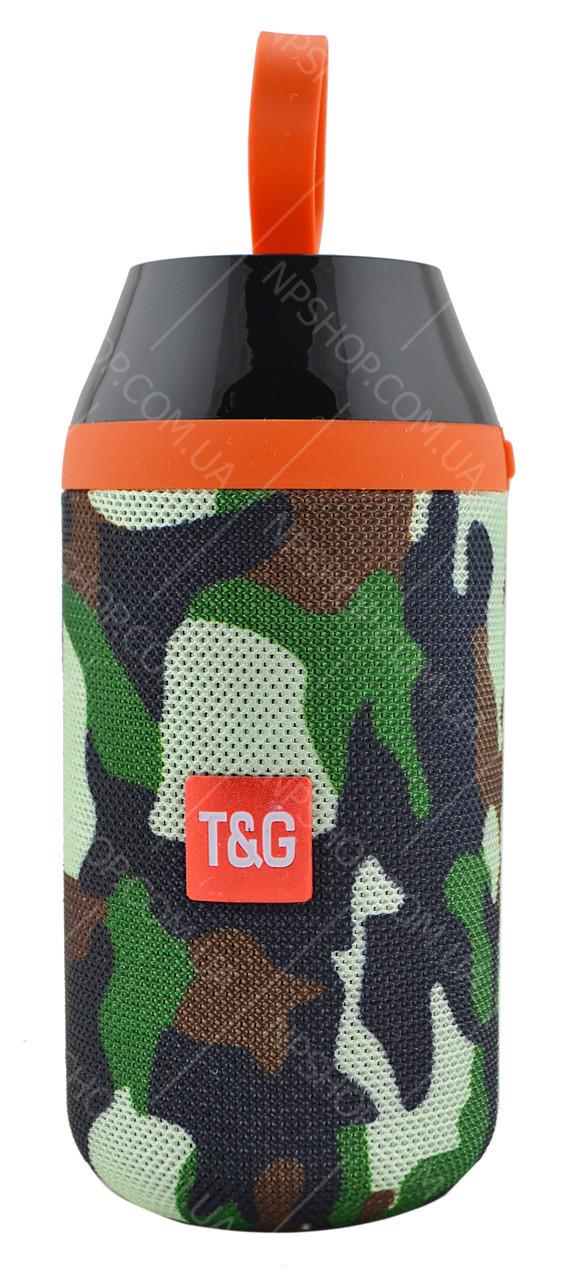 Портативная Bluetooth колонка влагостойкая T&G 104 Камуфляж УЦЕНКА (165128 )