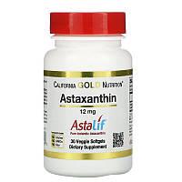 Астаксантин 12 мг 30 капсул США California Gold Nutrition антиоксидант из водорослей
