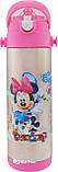 Термос детский с поилкой и шнурком на шею Disney 9030-500 500мл Микки Маус Розовый УЦЕНКА (154210), фото 2