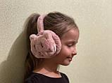 Меховые наушники детские котик, детские меховые наушники котики, ушки меховые наушники детские из эко меха, фото 4