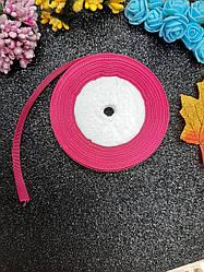 Репсовая лента розового цвета, ширина 1,2 см (12 мм), длина рулона 23 м.