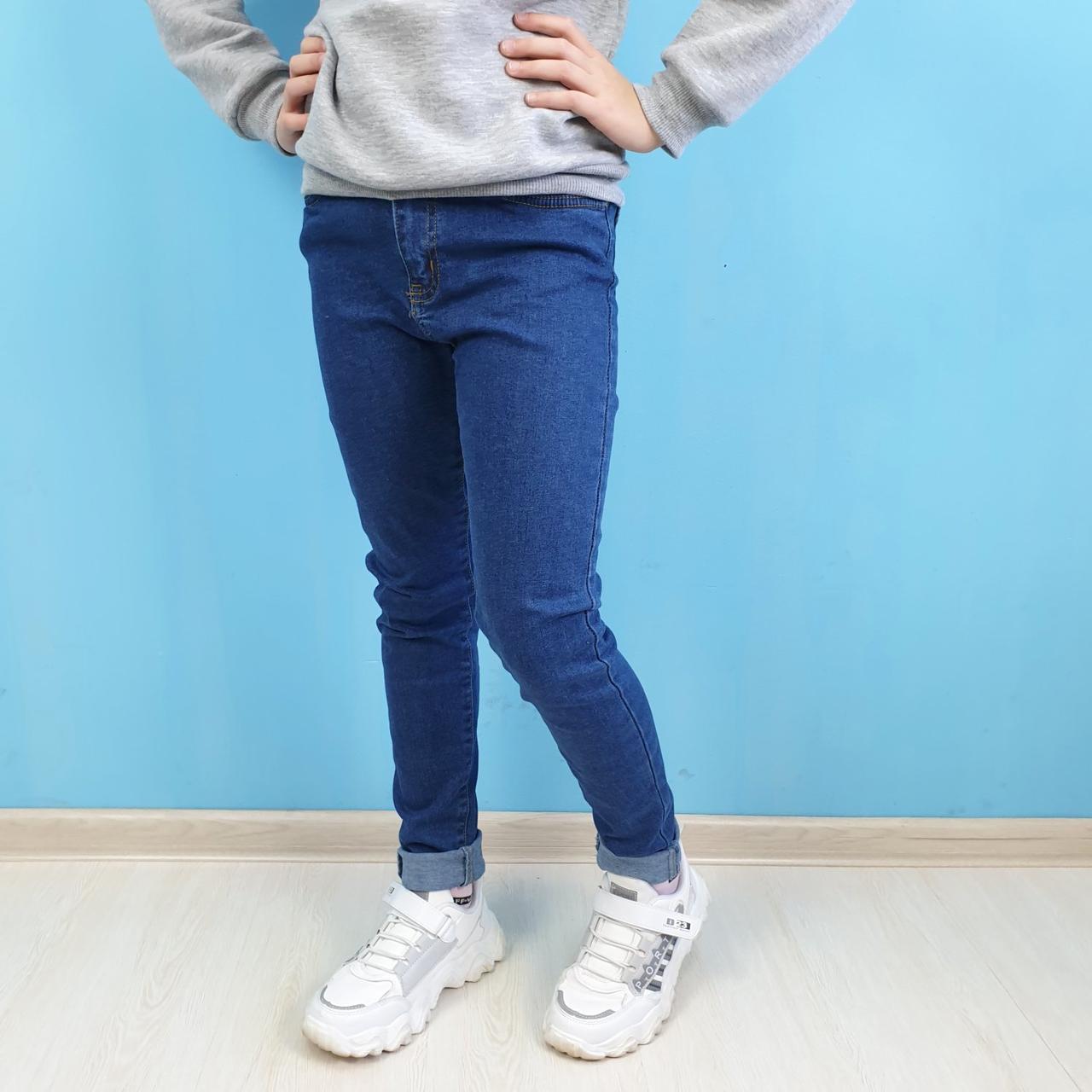 Светлые джинсы для девочки с высокой посадкой тм Cool Finish размер 11,12,13,14,15 лет
