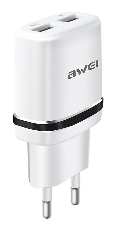 Сетевой адаптер Awei C-930 5V, 2.1A, 2 USB (5254)