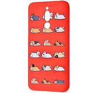 Чехол-накладка TPU WAVE Fancy Case для Xiaomi Redmi 8A Red (Sleeping Dog)