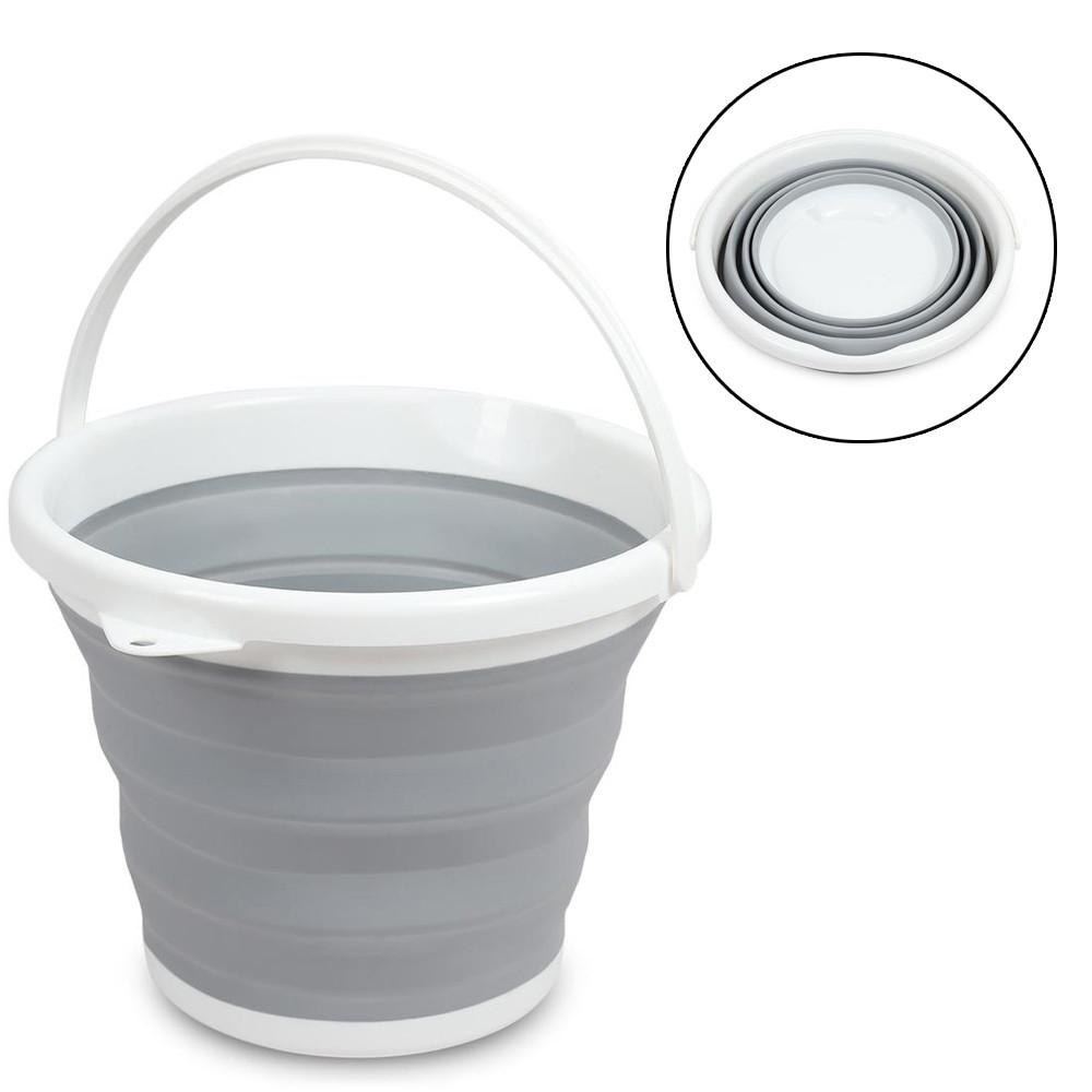 Ведро складное (круглое) Folding Bucket 10 л (случайный цвет) (7106)
