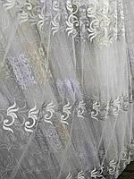 Тюль белый с сереболм Турция, фото 1