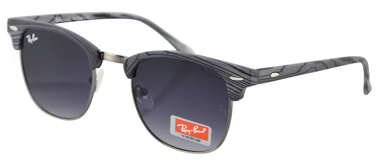 Сонцезахисні окуляри Ray Ban Clubmaster 3016 60-14-130 C9 градієнт (репліка)
