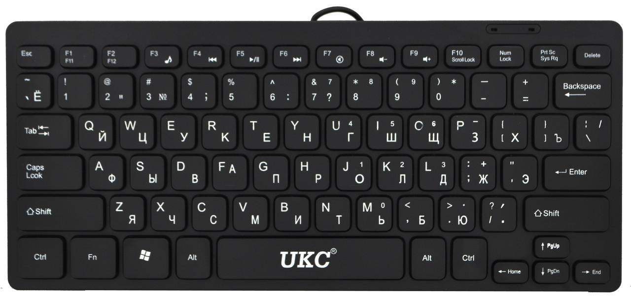 Клавиатура мини проводная UKC K1000 Черный