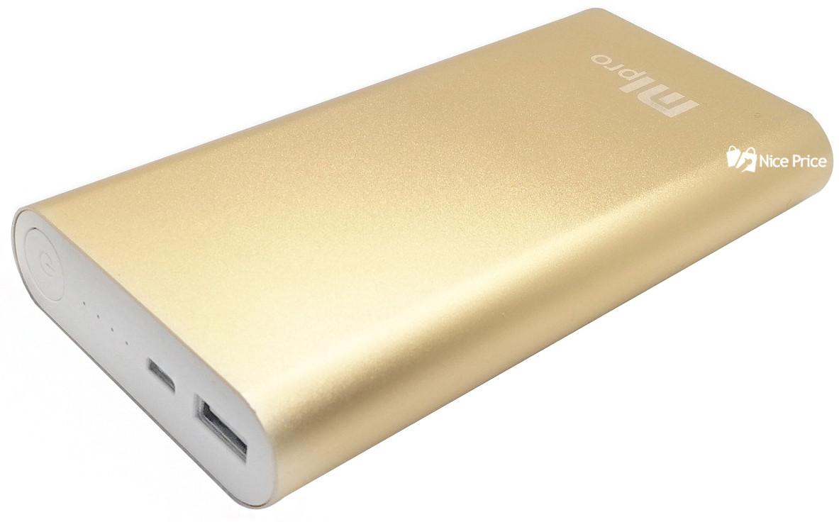 (УЦЕНКА) Внешний акумулятор УМБ Power Bank MLPro 20800 mah Золотой (0001)