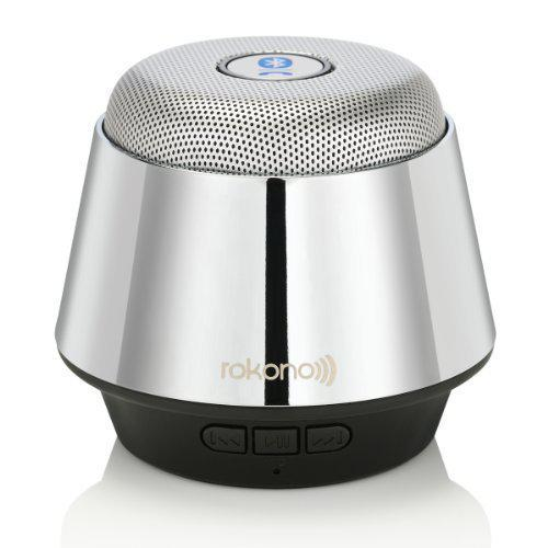 Портативная bluetooth MP3 колонка Rokono B10 BASS серебряная