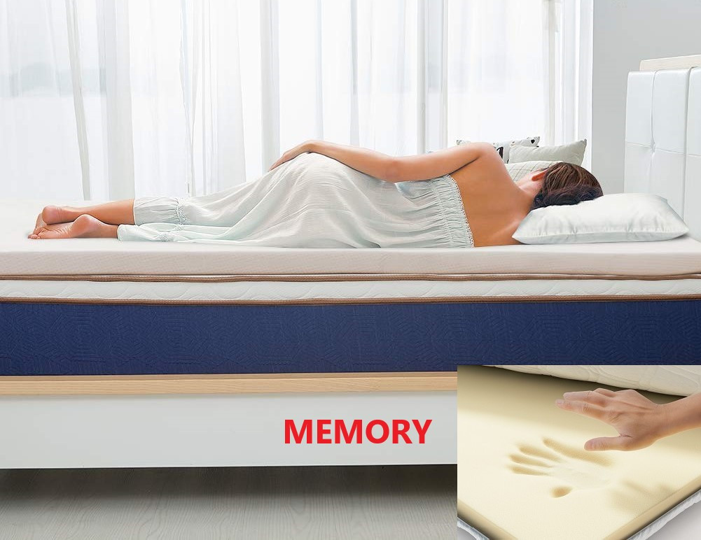 Топпер - Футон, Матрас BIG-MEMORY трикотаж (Eurosleep) 150*200 размер, высота 7 см, съемный чехол, 4 фиксатора