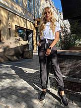 Женские спортивные штаны 406  черные, фото 2