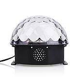 Світломузика диско куля Magic Ball Music MP3 плеєр SD-5150 (3154), фото 4