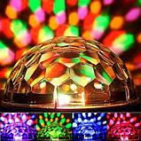 Світломузика диско куля Magic Ball Music MP3 плеєр SD-5150 (3154), фото 9