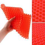 """Антипригарный силиконовый коврик для готовки """"Пирамидка"""" Pyramid Pan Red (3223), фото 3"""