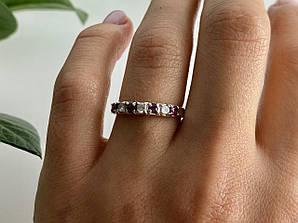 Серебряное кольцо со шпинелью и фианитами  Радость