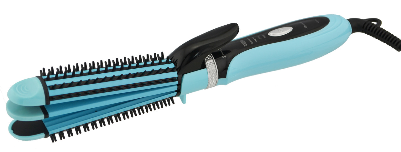 Многофункциональная плойка утюжок для волос 3в1 Gemei GM-2922 голубой (3806)