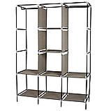 Складной тканевый шкаф, шкаф для одежды Storage Wardrobe 88130 на 3 секции Brown, фото 2