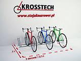 Велопарковка на 6 велосипедів Cross-6 Польща, фото 4