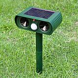 Отпугиватель кротов, грызунов, змей на солнечной батарее UKC HC19 (7002), фото 4