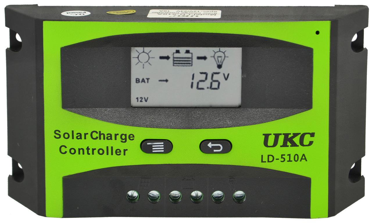 Солнечный контроллер UKC 10A LD-510A, контроллер для солнечной батареи (2836)
