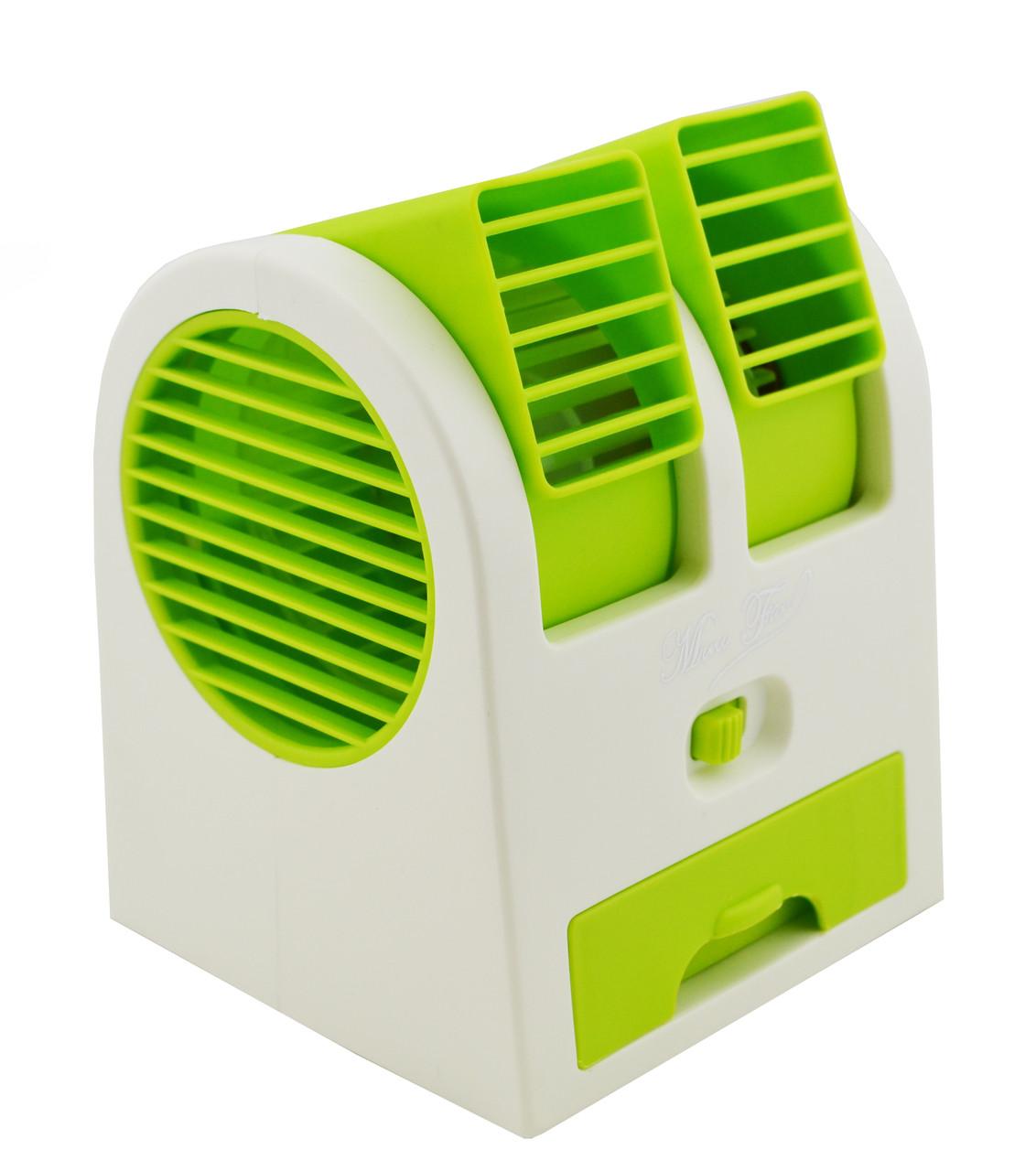 Міні-кондиціонер вентилятор Mini Fan UKC HB-168 зелений