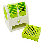 Міні-кондиціонер вентилятор Mini Fan UKC HB-168 зелений, фото 4