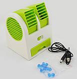 Міні-кондиціонер вентилятор Mini Fan UKC HB-168 зелений, фото 5