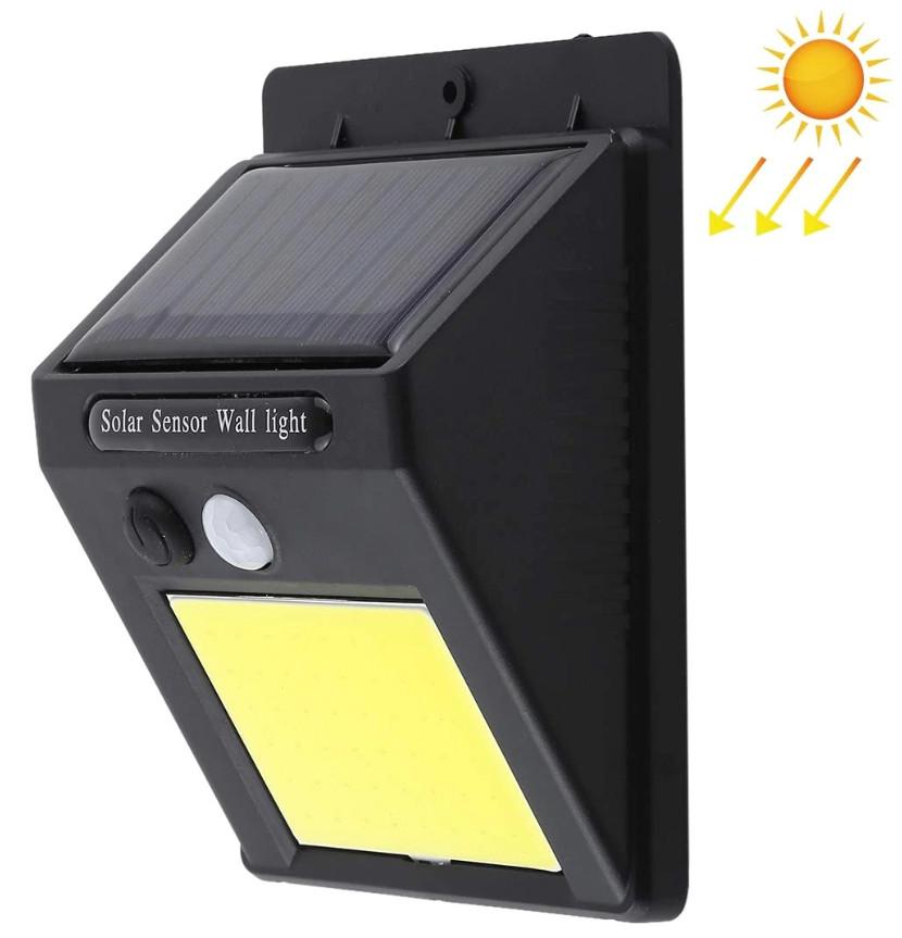 Світильник UKC SH-1605 з датчиком руху і сонячною панеллю настінний вуличний 350 люмен (4514)