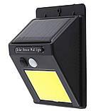 Світильник UKC SH-1605 з датчиком руху і сонячною панеллю настінний вуличний 350 люмен (4514), фото 2