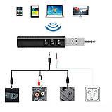 Авто адаптер ресивер трансмітер Bluetooth, AUX MP3 WAV UKC BT450 Black (4690), фото 7