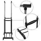 Вішалка стійка для одягу підлогова подвійна телескопічна Double-Pole Clothes-horse N6806 (14035), фото 3