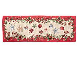 Раннер гобеленовый с люрексом Новогодний 100 х 40 см 732-055