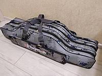 Чехол для снастей рыболовный для удилищ спиннингов удочек полужесткий Swordfish 3 секции 90 см