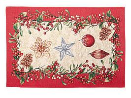 Салфетка на стол гобеленовая Новогодняя 50 х 35 см 732-060