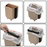 Мусорный контейнер Wet Garbage Container складной (на дверцу) (случайный цвет) (7158), фото 5