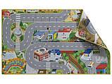"""Двусторонний игровой коврик """"Вокруг мира - Мегаполис"""" для деревянной железной дороги PlayTive Junior, фото 2"""