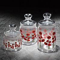 Набор банок для сыпучих продуктов Jar Hypnosis 3 шт (1 л, 0,75л, 0.5л) Luminarc.