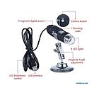 ОПТ ОПТ USB мікроскоп електронний цифровий для Android Mac Windows 1600X, фото 2