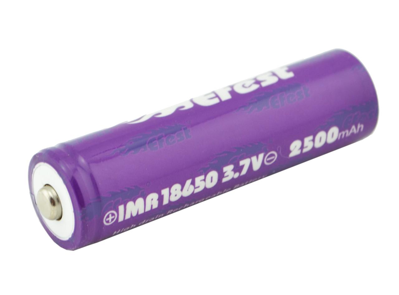 Высокотоковый аккумулятор батарея Efest 18650 2500 mAh 3,7V 35a (3818)